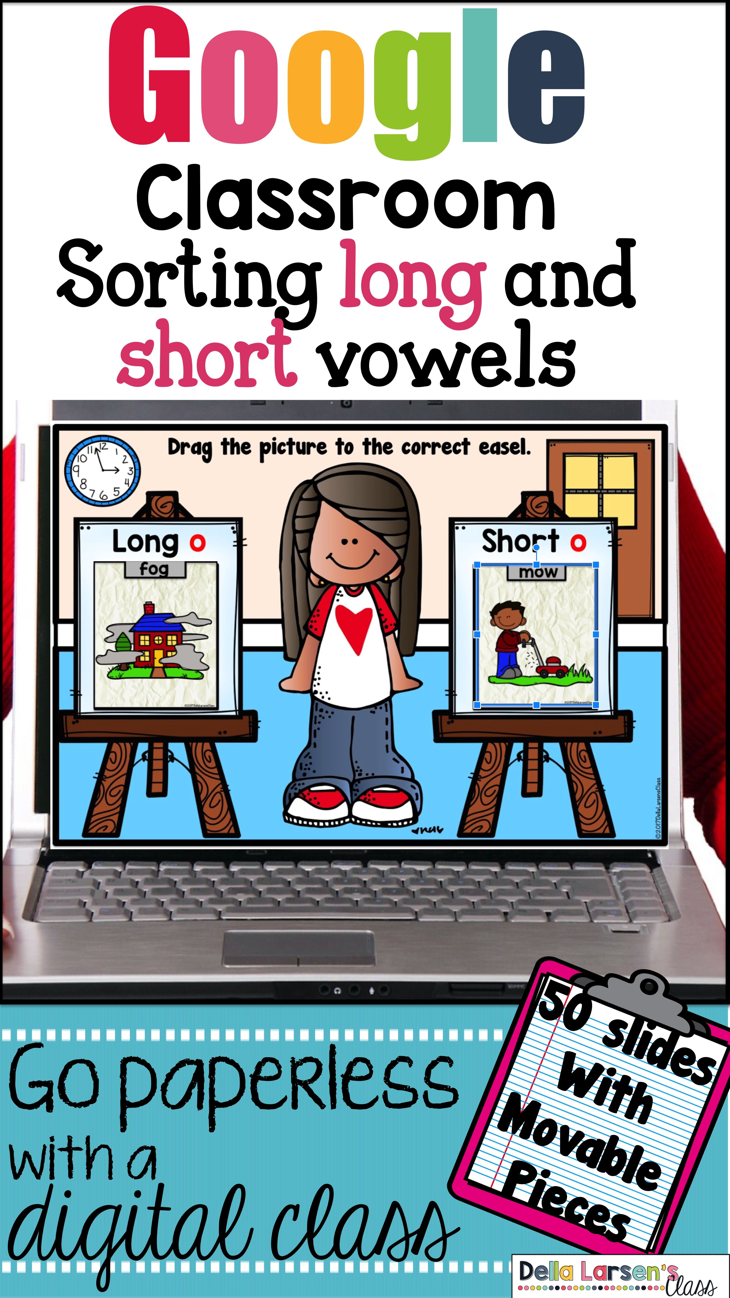 Classroom Sorting Long And Short Vowels In First