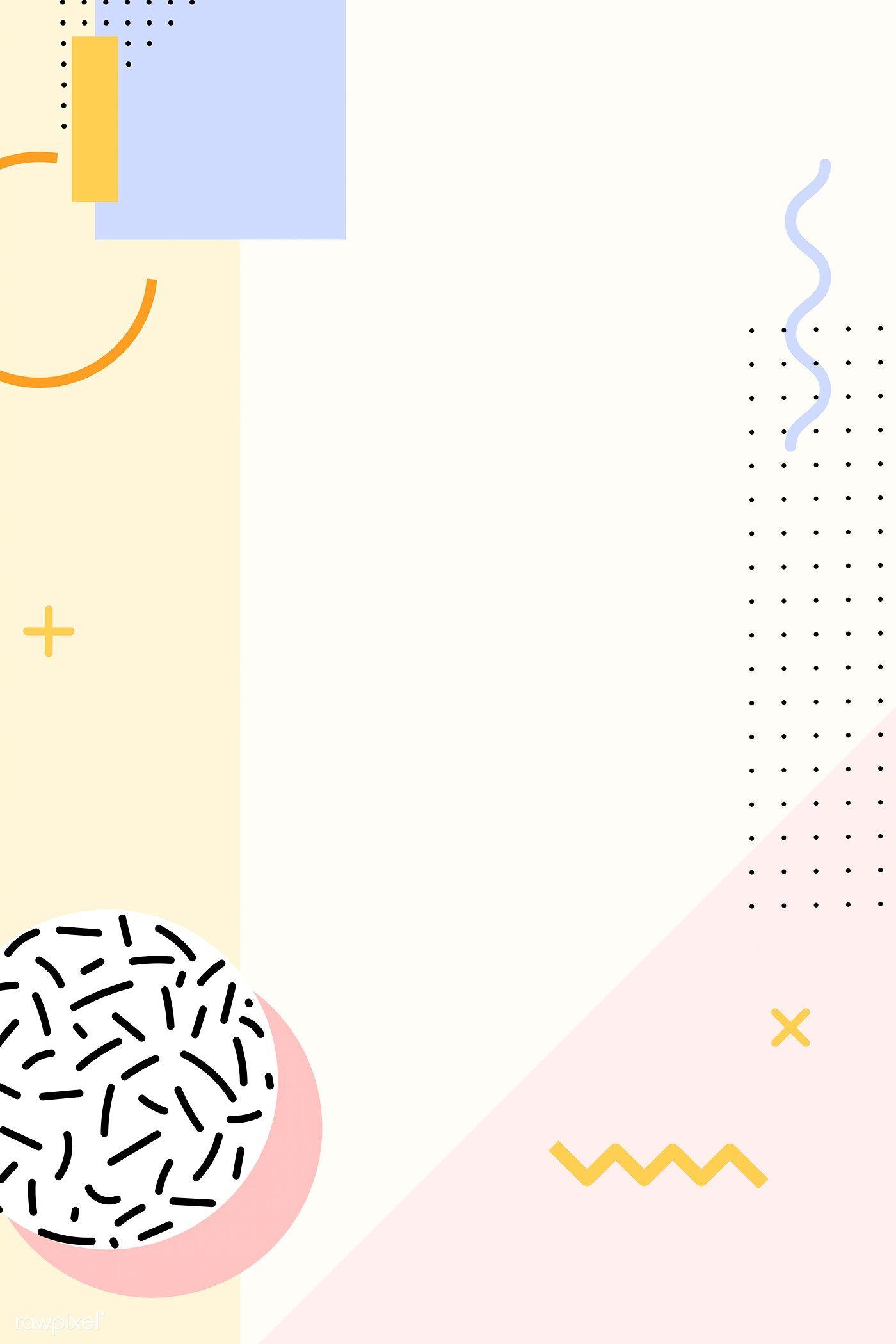 Pastel Memphis Pinterest Post Vector Free Image By Rawpixel Com Kappy Kappy Desain Banner Presentasi Desain Sampul Buku