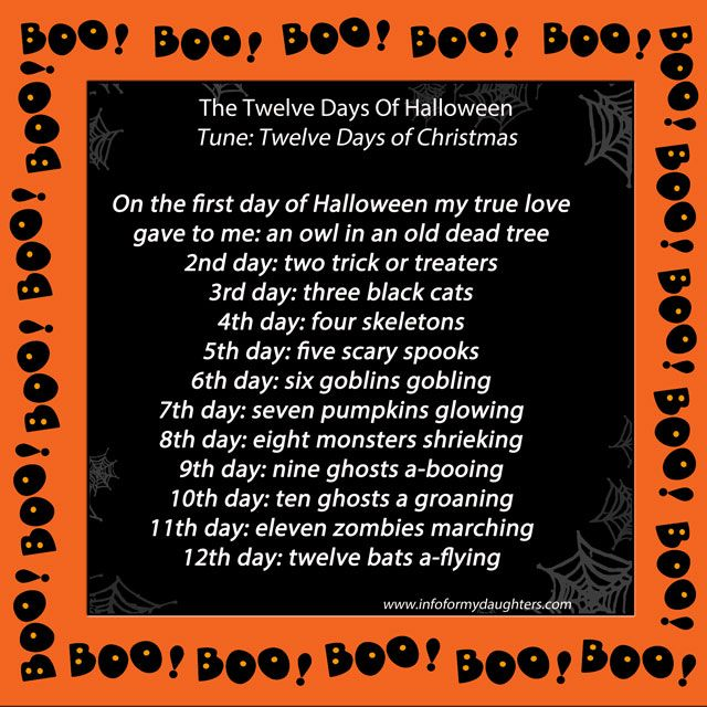 Twelvedaystune Jpg 640 640 Pixels Halloween Songs Songs 12 Days Of Christmas
