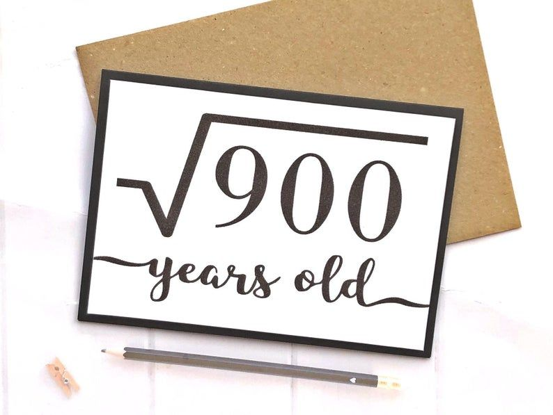 30th Birthday Card Maths Birthday Card Nerd Card 30th Etsy In 2021 30th Birthday Cards Birthday Cards For Brother Funny 30th Birthday Cards