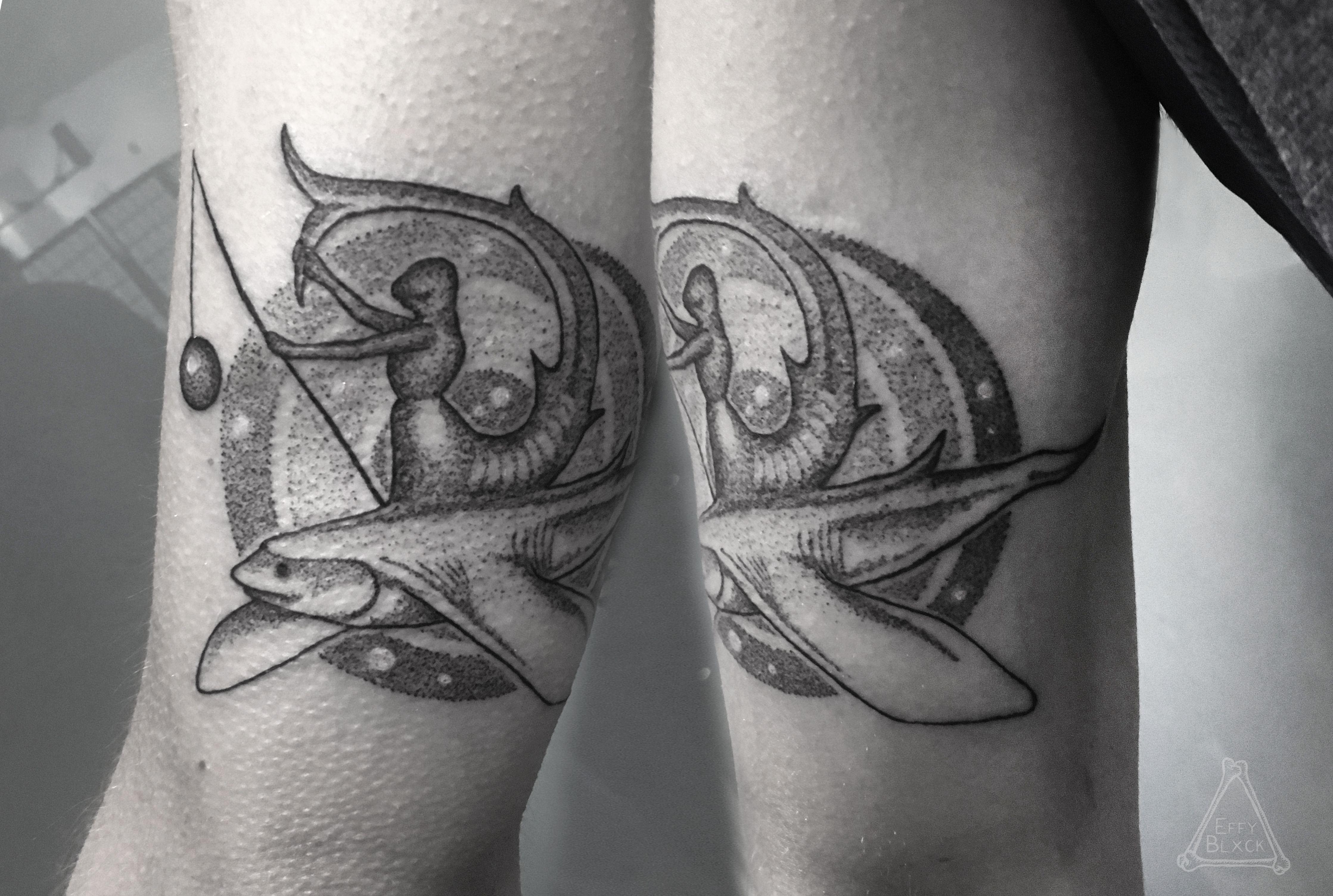 Hieronymus Bosch Flying Fish Dotwork Darkartists Tattoos
