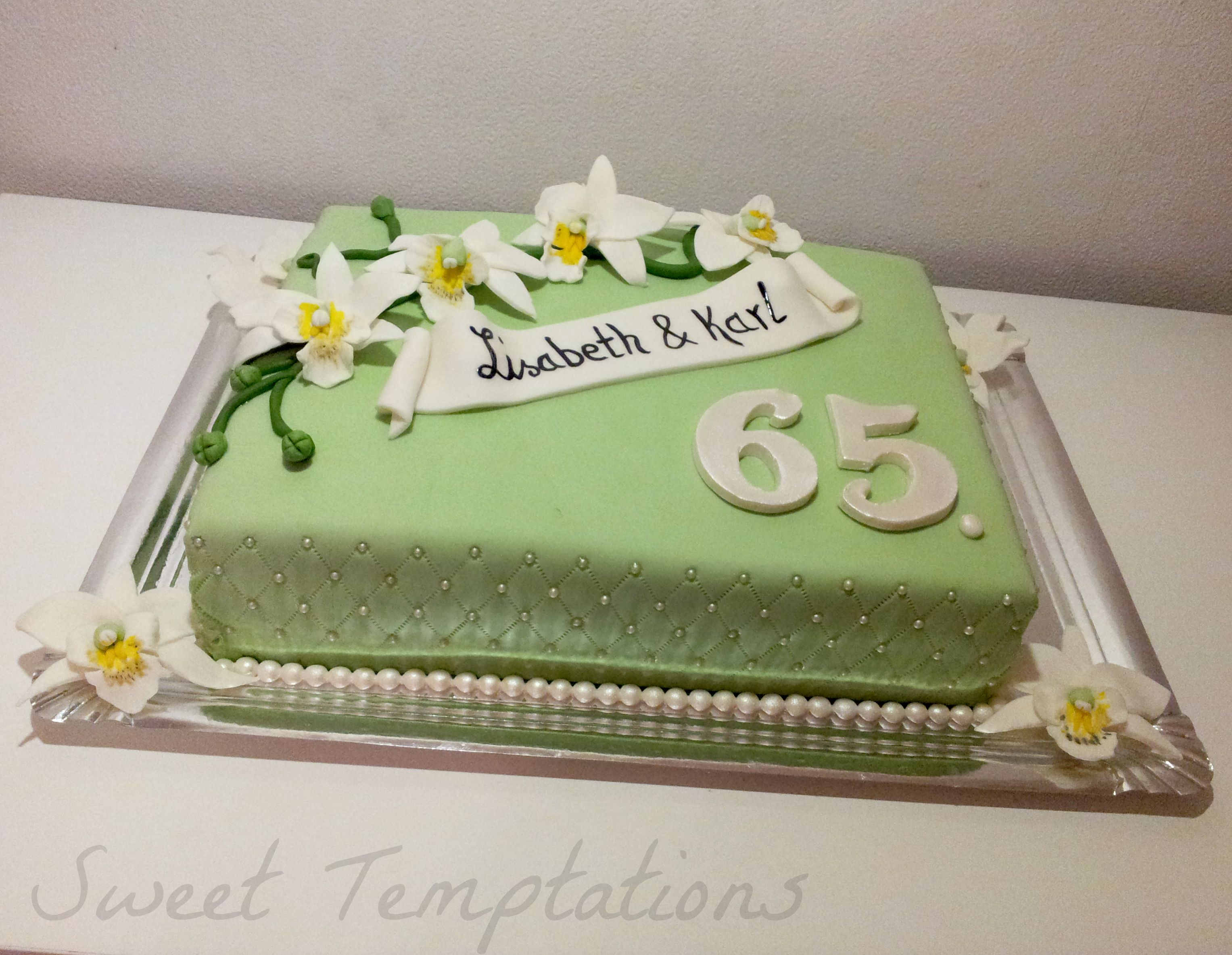 Cake For 65 Wedding Anniversary Iron Is Filled