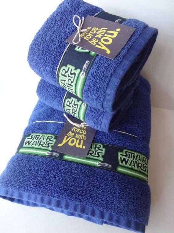 Star Wars Bathroom Towel Set Set of 3 bathroom towels di AugustAve, $49.00 per G!