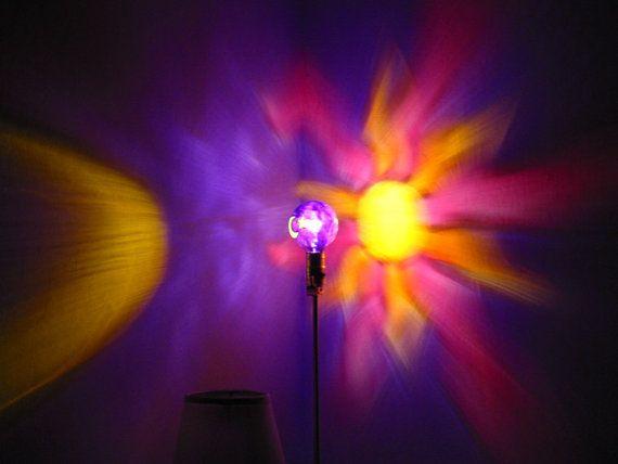 Hand Painted Sun Moon Star Mood Light Bulb 4 Burning Man