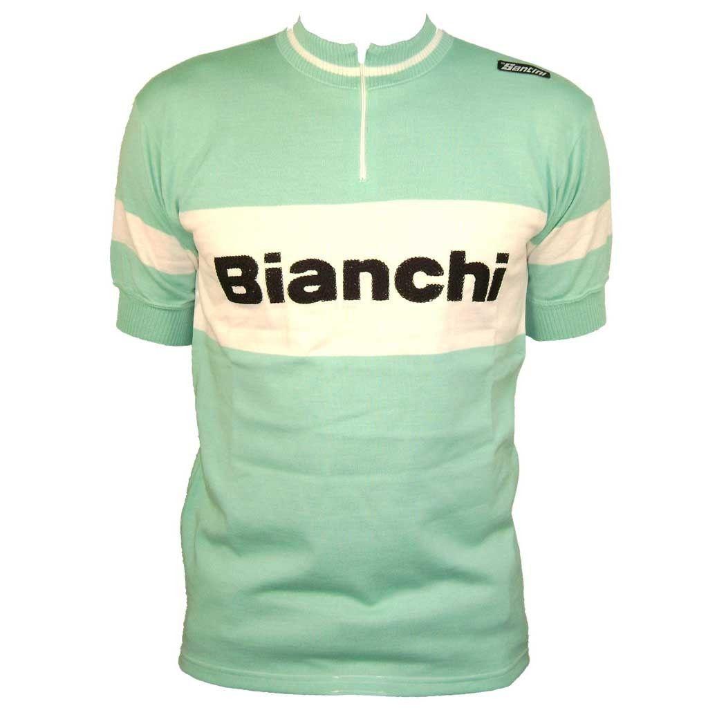 d7d81a40f Vintage Wool Celeste Jersey - Bianchi - Short Sleeve. Sale  99.00 ...