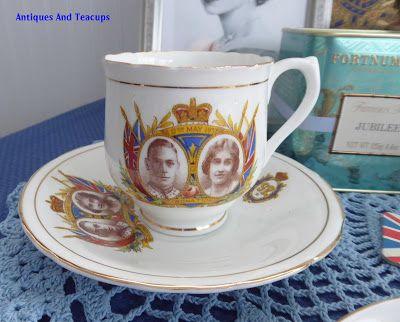 Antiques And Teacups: Tuesday Cuppa Tea Queen Elizabeth II Ascension Anniversary Tea, Pear Ginger Drop Scones #cuppatea
