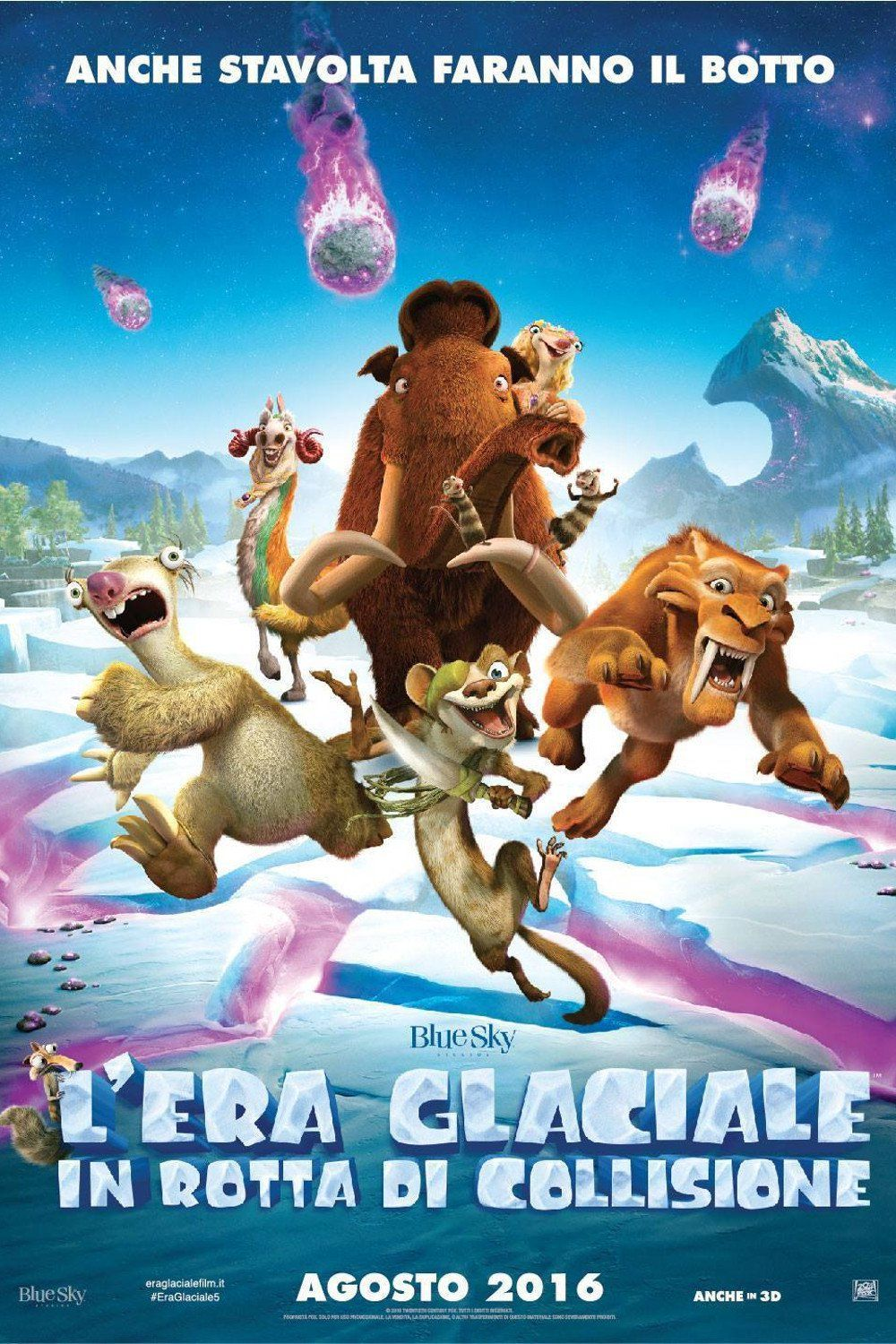 L Era Glaciale 5 In Rotta Di Collisione Streaming Film E Serie Tv In Altadefinizione Hd Era Glaciale Film Commedia