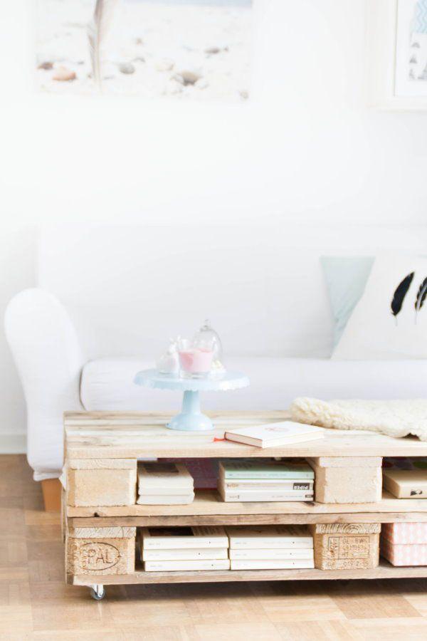 Paletten-Tisch-bauen … | room inspo | Pinte…
