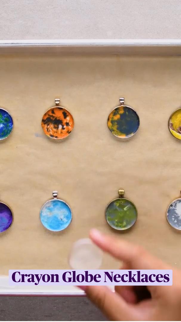 Crayon Globe Necklaces