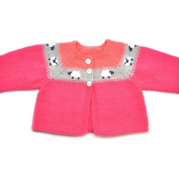 Free Knitting Pattern Partner Baby Cardigan Girl. This cardigan of ...
