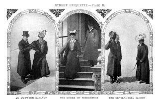 Antique Images: Free Vintage, Edwardian Photo: Vintage 1906 Black and White Photo of Street Etiquette