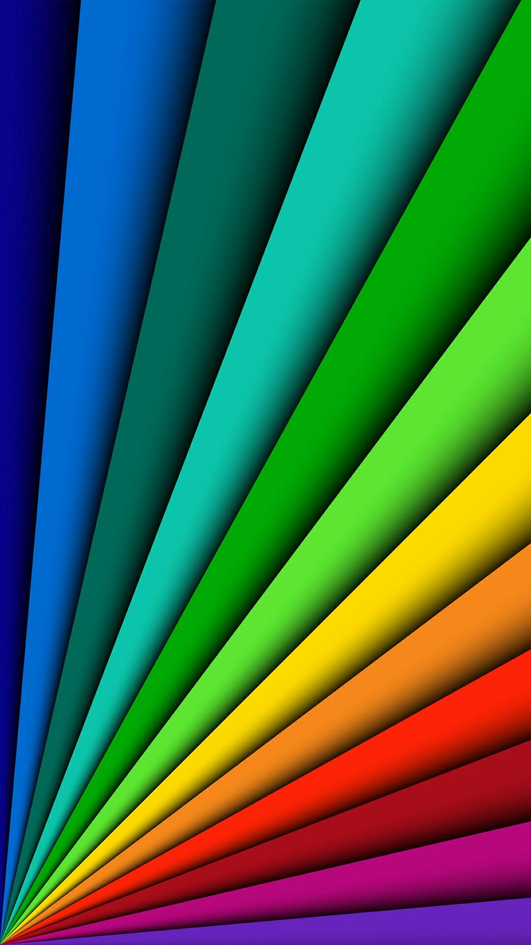 Free Colorful Geometric Wallpaper: Fanned Out Primary Colors Wallpaper