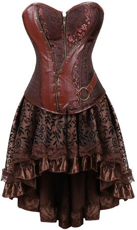 kranchungel steampunk corset skirt renaissance corset