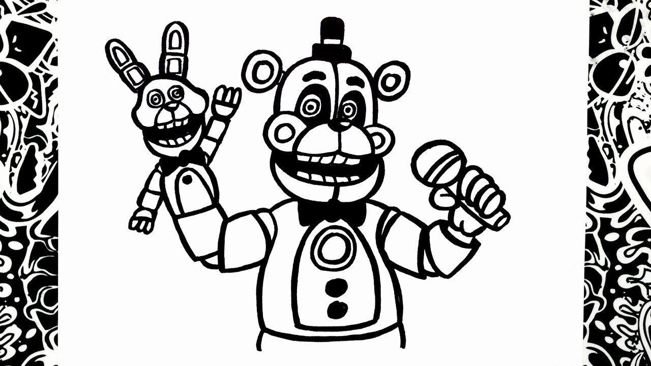 28 Funtime Freddy Coloring Page In 2020 Coloring Pages Minion