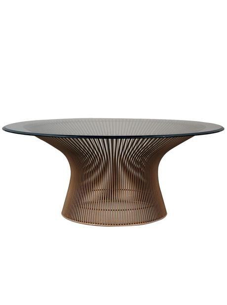 Original Solid Bronze Warren Platner Coffee Table With Beveled