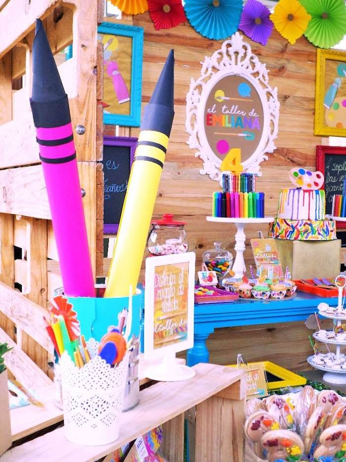 Colorful Art Studio Birthday Party