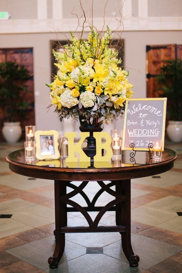 Wedding decorations yellow and gray  imagem   Quinceanera ideas  Pinterest  Pantone Quinceanera