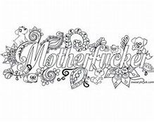 image result for swear word coloring pages - Free Printable Swear Word Coloring Pages