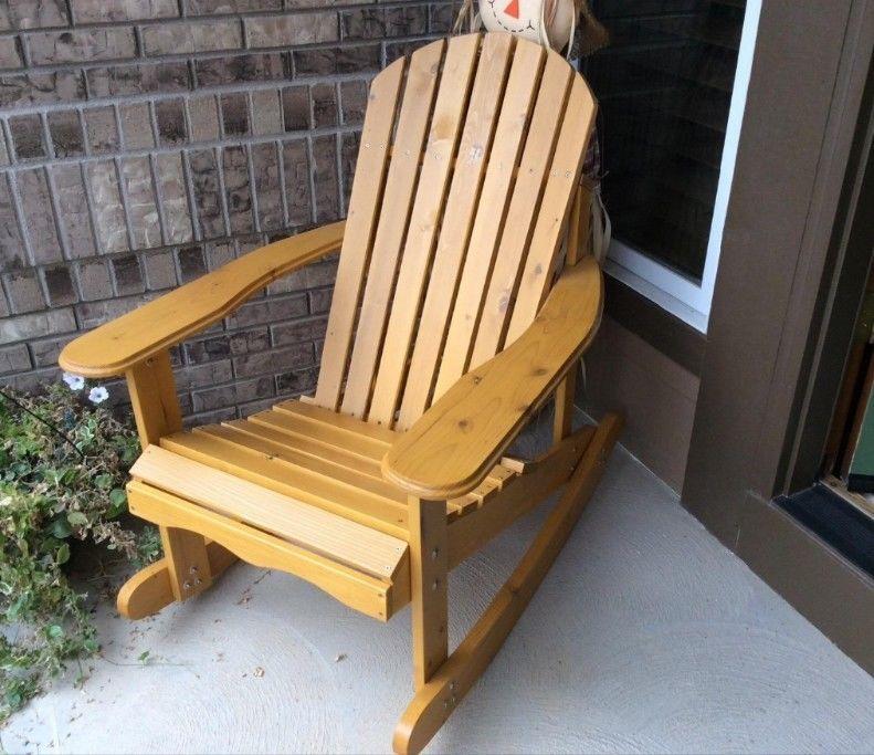 Large Rocking Chair Outdoor Rock Wooden Patio Porch Rocker Garden