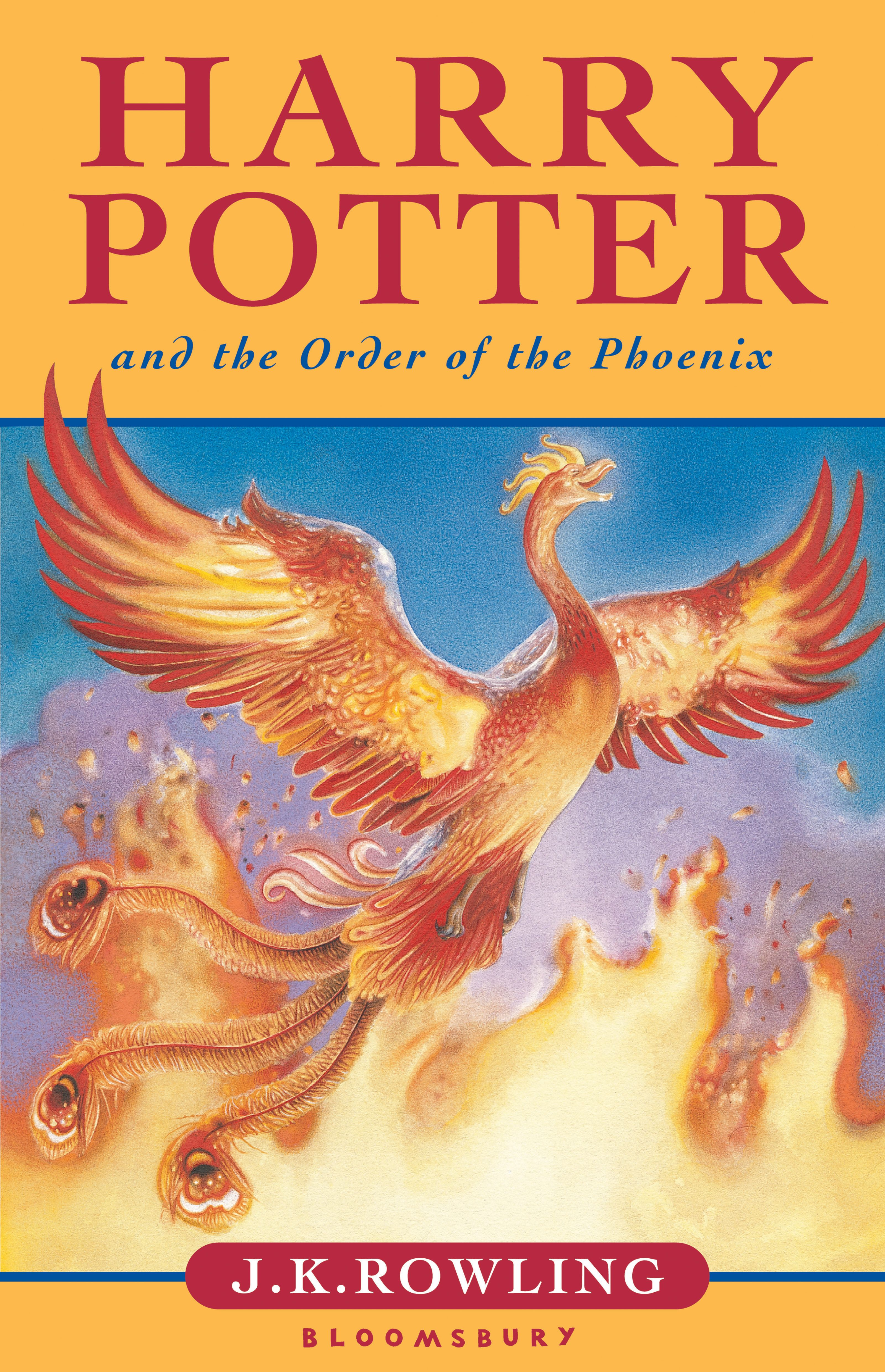 Book 5 Harry Potter And The Order Of The Phoenix Cover Art