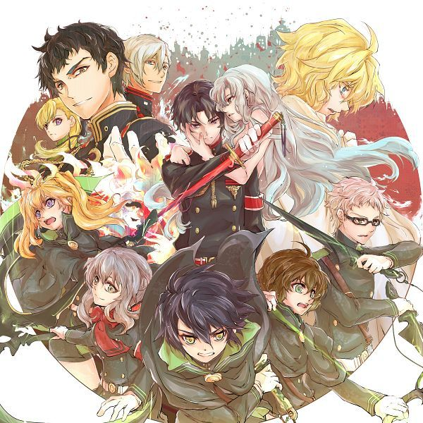 Tags: Anime, Pixiv Id 6130760, Owari no Seraph, Saotome Yoichi, Hyakuya Mikaela, Hiiragi Shinoa, Hiiragi Kureto