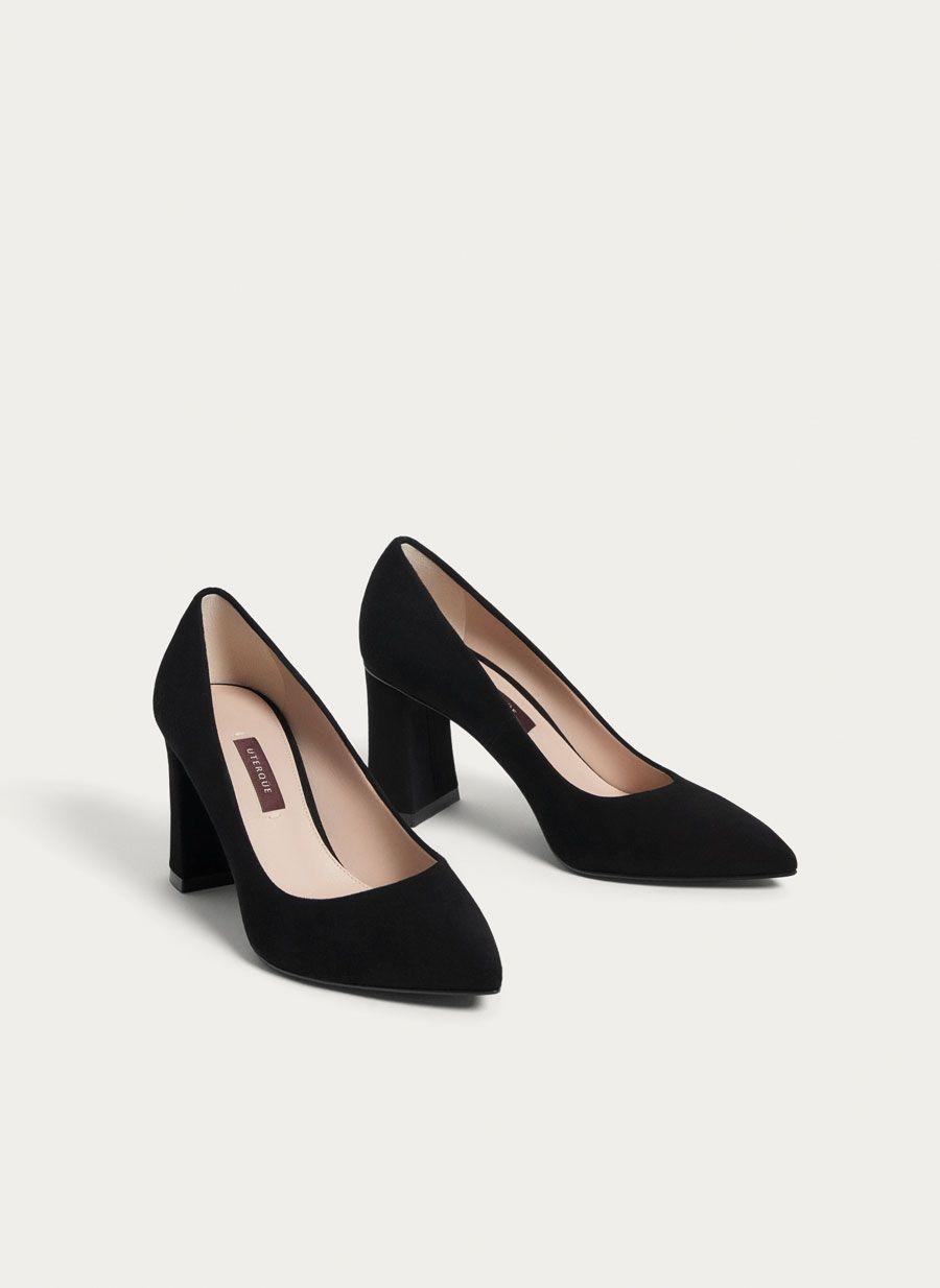 Mujer Ajustadas tacón en bloque sin Cordones Cremallera Detalle Zapatos de salón