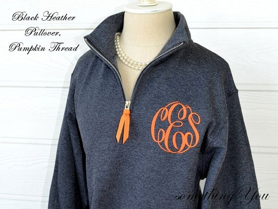 Monogrammed Pullover with Quarter Zip - Personalized Womens ...