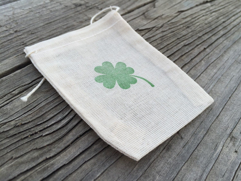 10 four leaf clover favor bags, irish favor bags, Saint Patricks day ...