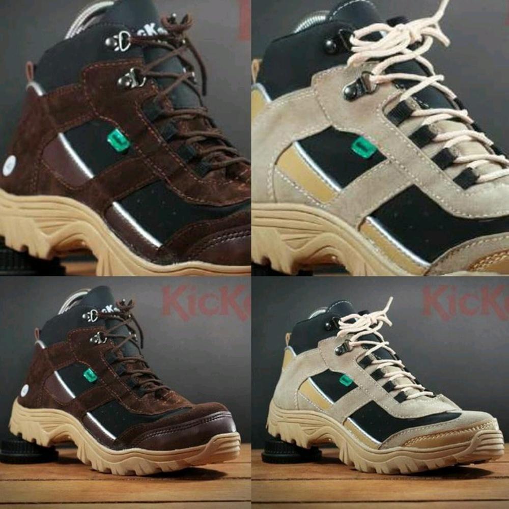 Promo Sepatu Pria Kickers Safety Boots Ujung Besi Sepatu Teknisi