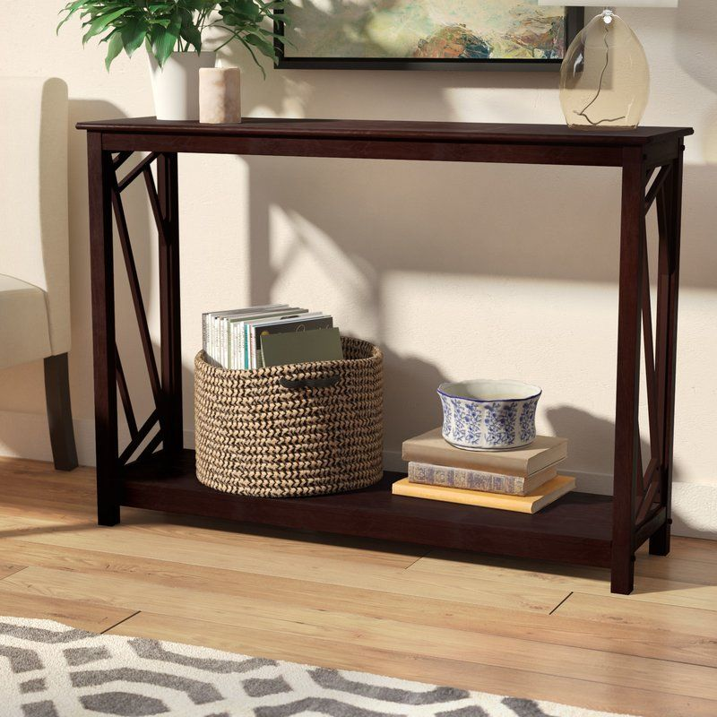 Melinda Wood Console Table Sofa Table With Storage Wood Console