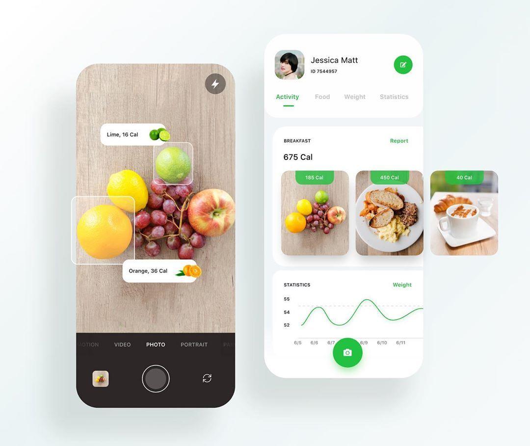 Calorie Counter App Design by Angelina Skiba Calorie