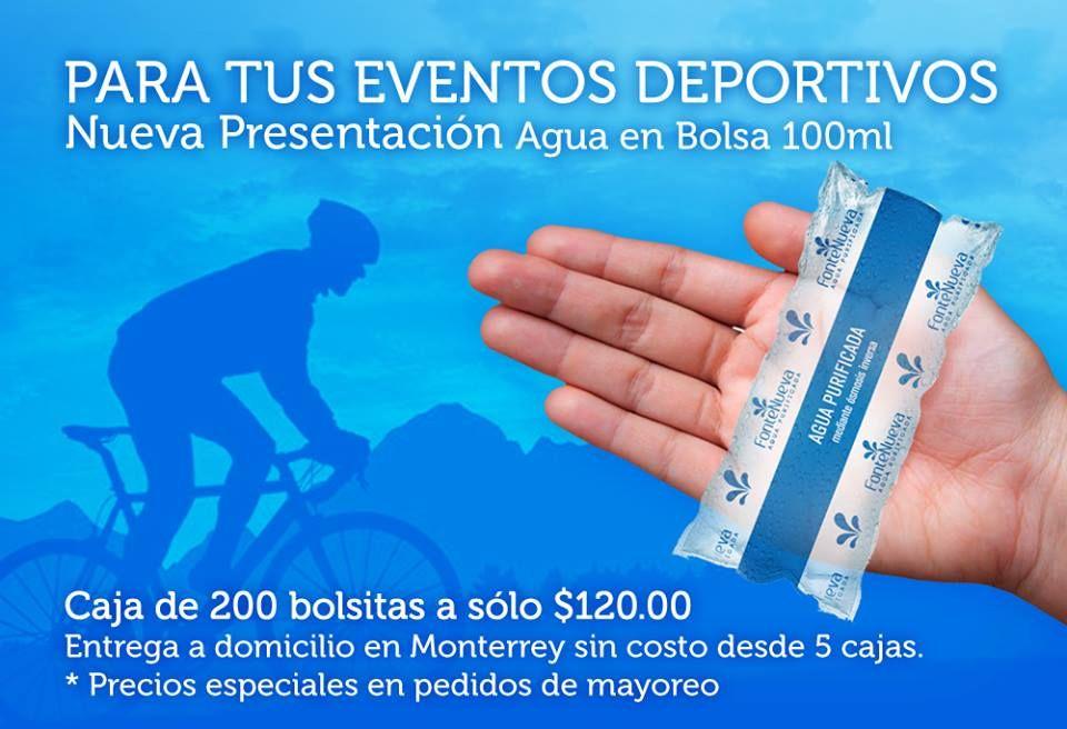 Agua Purificada En Bolsas Para Eventos Deportivos Escolares Etc