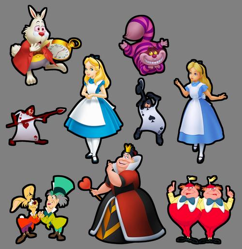 Все персонажи алисы в стране чудес картинками