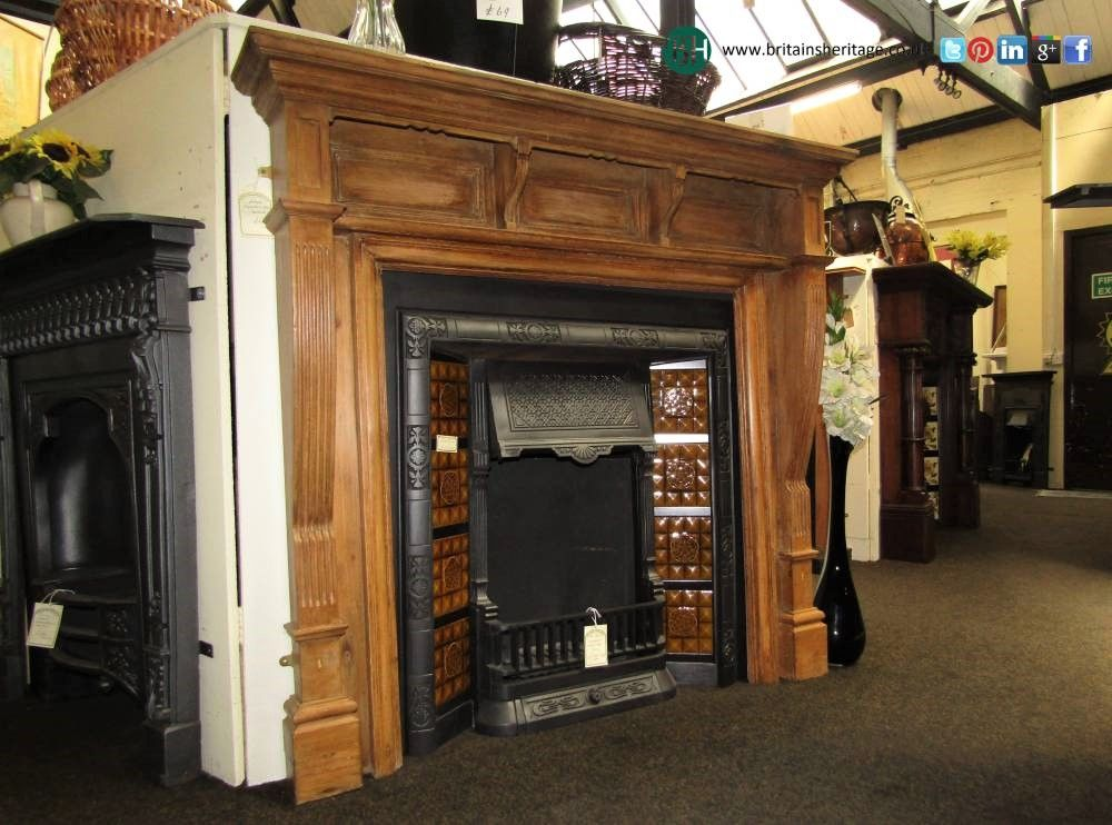 Antique Victorian Cast Iron Fireplace Insert For Tiles Cast