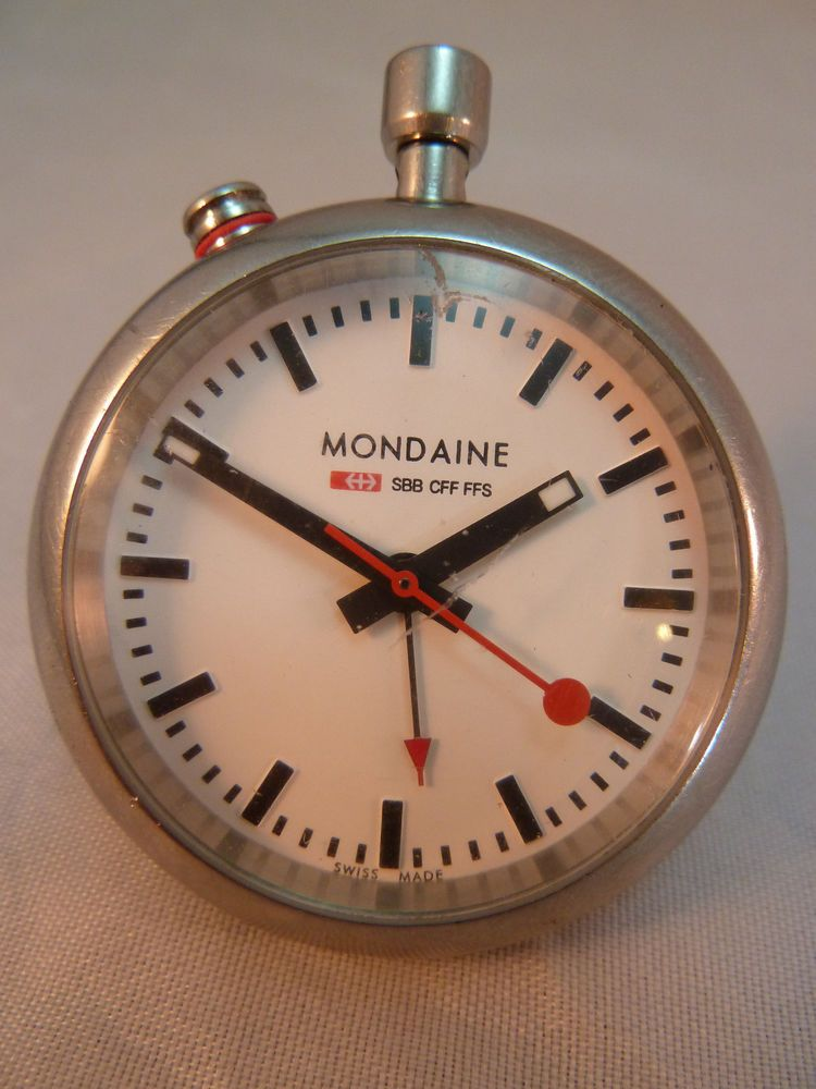15b92562b Mondaine Official Swiss Railways Pocket Watch A468.30317.11SBB Travel Alarm  #Mondaine