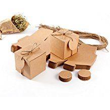 50 x Kraftpapier Geschenkbox Geschenkschachtel Geschenkverpackung