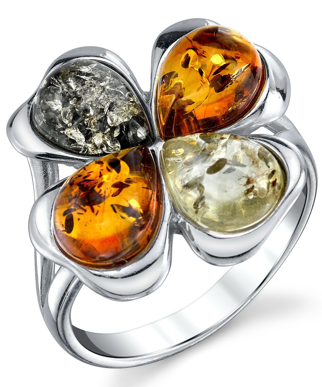 Meteorite Clover Ring