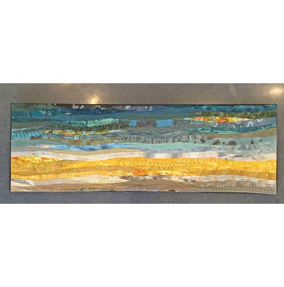 Pieced Fabric Wall Art Yellow In 2020 Fabric Wall Fabric Wall Art Modern Wall Hanging