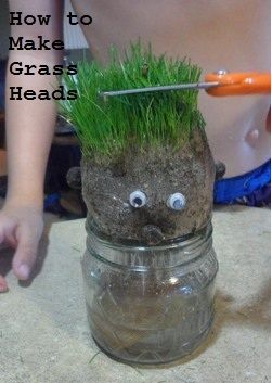 How to make grass heads.
