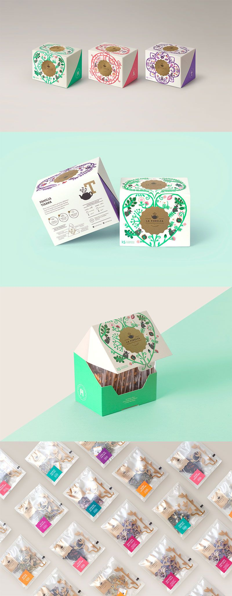 Tea Branding and Packaging: 46 Innovative and Delightful Designs