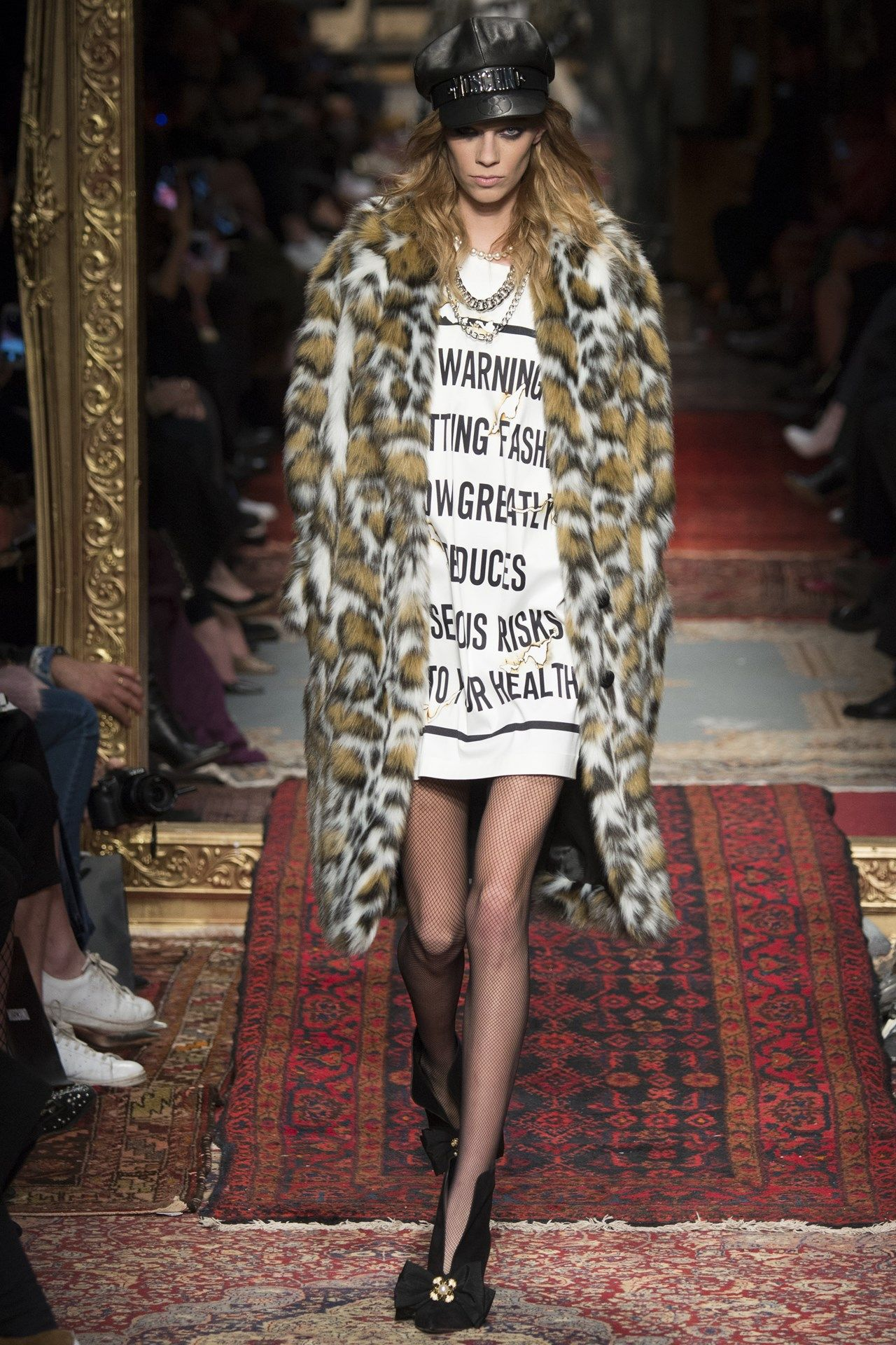 See the Moschino autumn/winter 2016 collection. Click through for full gallery at vogue.co.uk