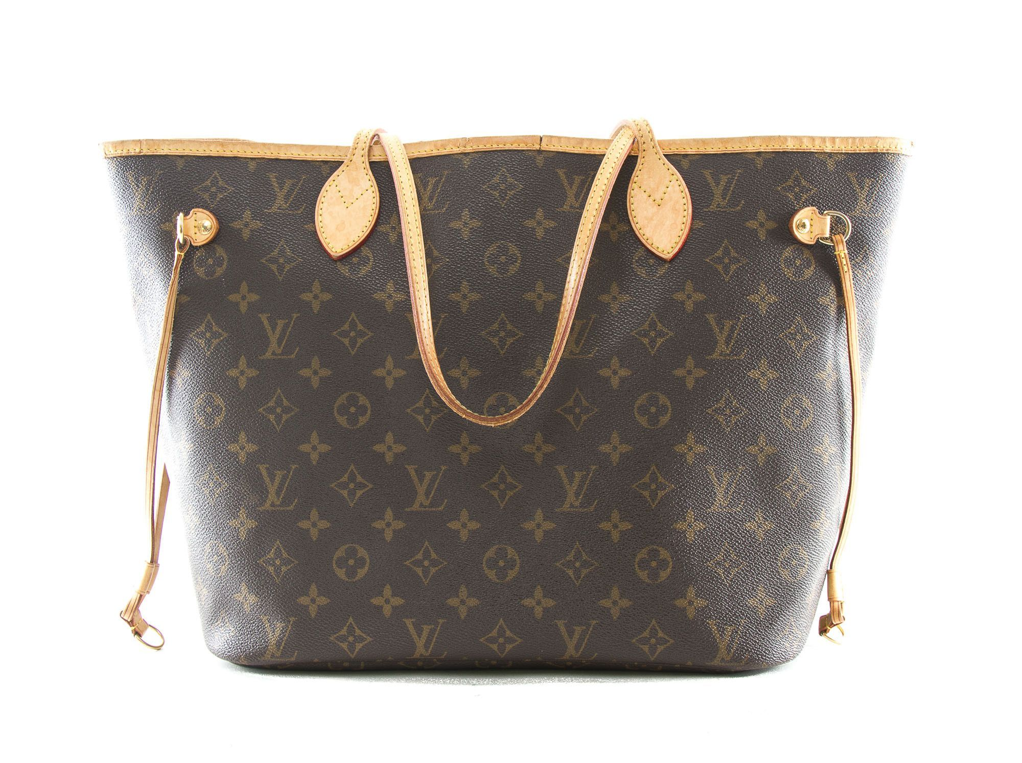 47ab8adf6071 Authentic Louis Vuitton Monogram Neverfull MM Tote bag M40156 ...