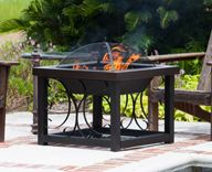 Buy Hammer Tone Bronze Finish Cocktail Table Fire Pit | EventStable.com