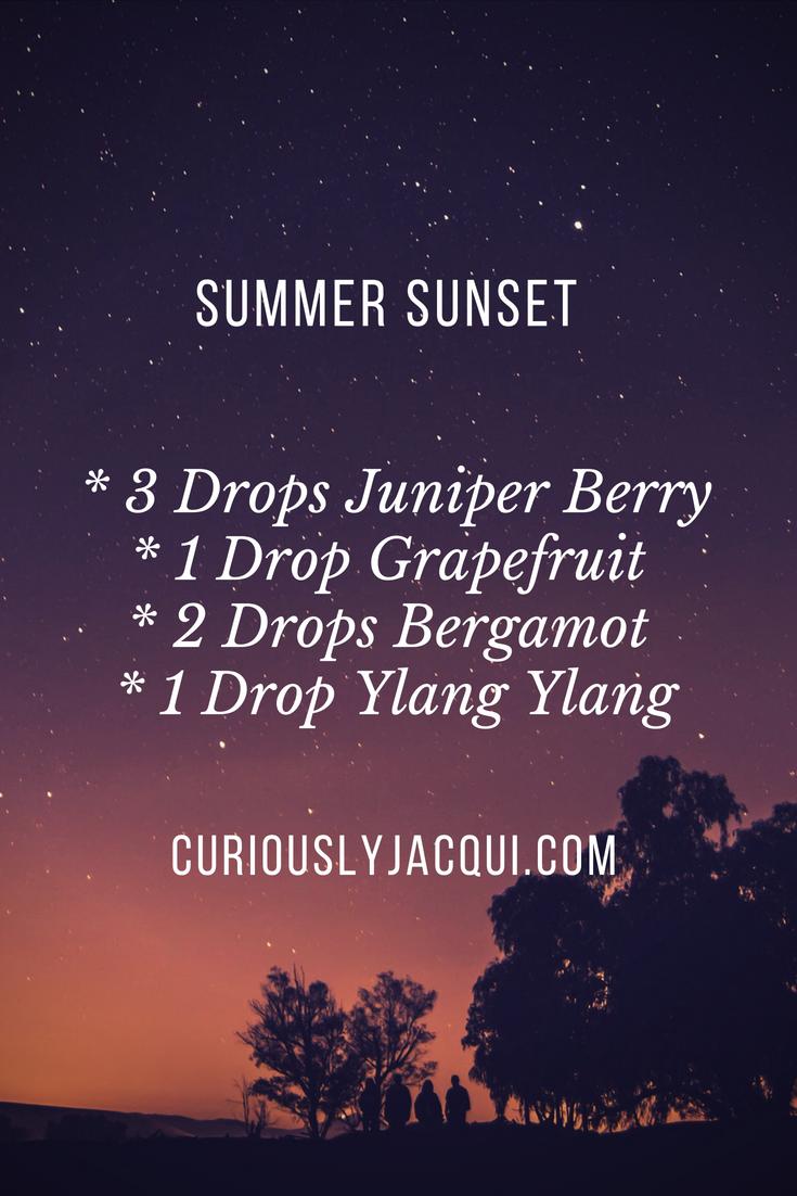 Summer Sunset Diffuser Blend   #summertime #curiouslyjacqui #diffuserblend #summersunset