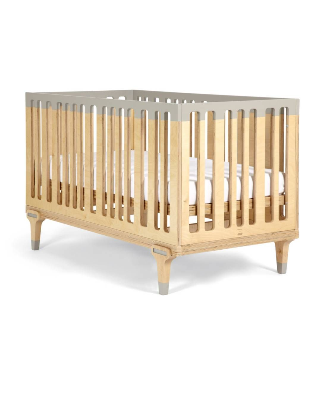 Bunny Clyde Convertible Cot Toddler Bed 3 In 1 Birch Wood