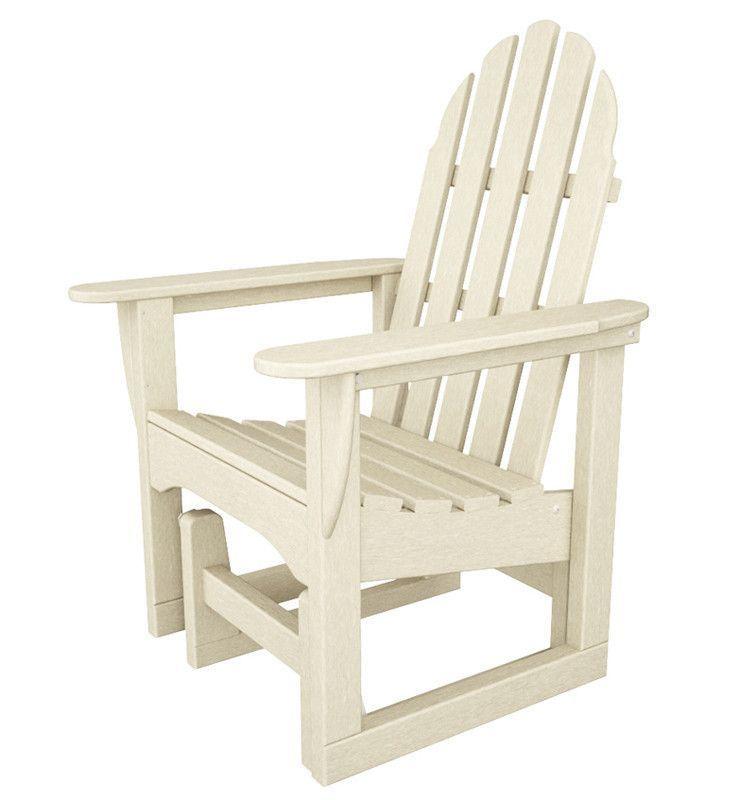 Polywood ADSGL-1SA Classic Adirondack Glider Chair in Sand