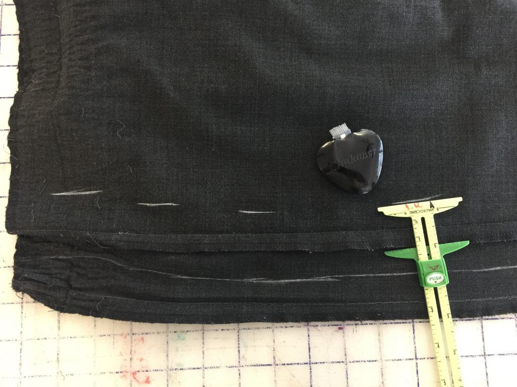 measuring to sew smaller pant legs the same