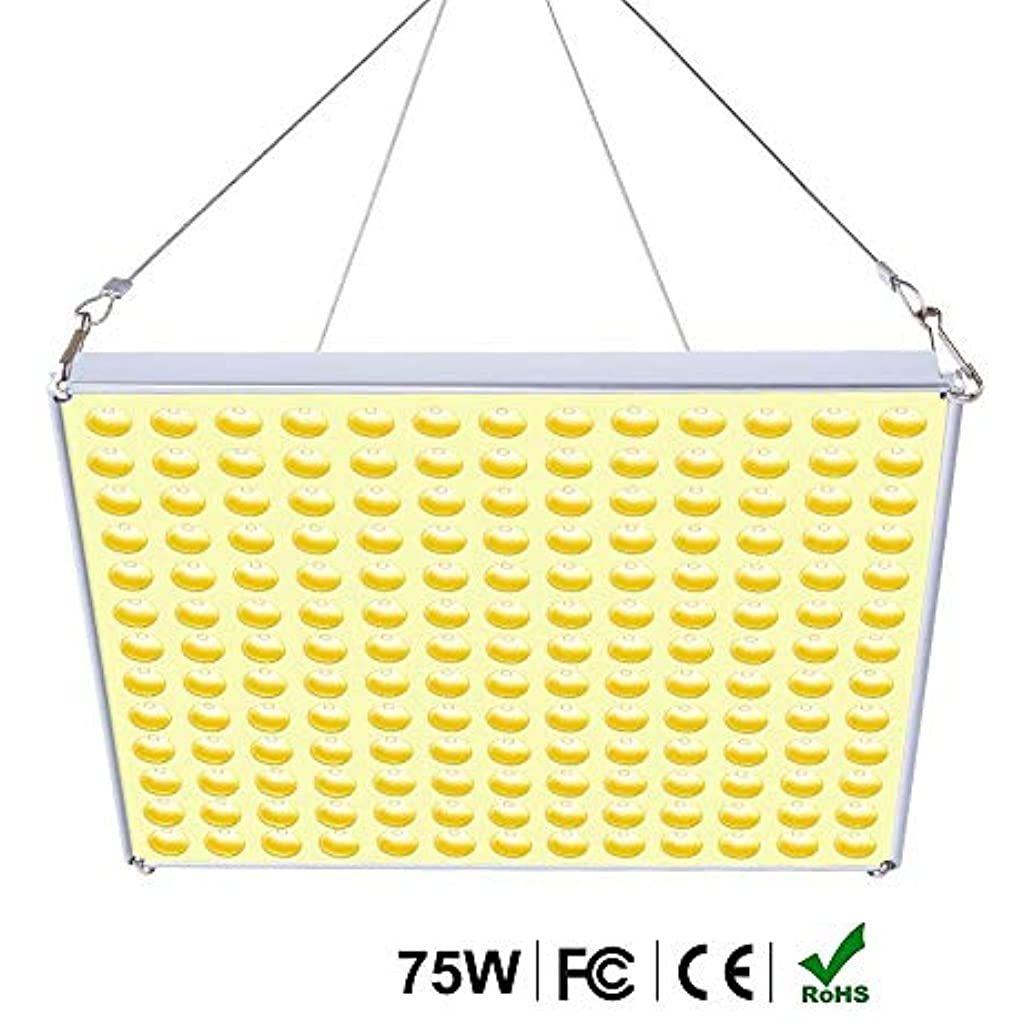 Roleadro 75w Lampe Led Horticole Croissance Floraison Grow Light Panneau Led Culture Indoor Pour Plante Croissance En 2020 Led Horticole Lampe Led Panneau Led