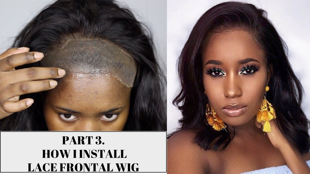 How I Install A Lace Frontal Wig Stocking Cap Got2b Glue Lace Frontal Wig Frontal Wigs Wigs