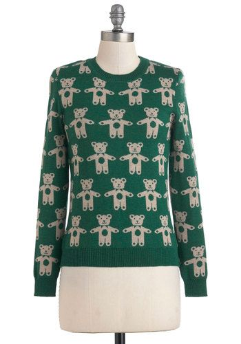 I swear I had this in 1990.  Can't Bear to Leave Sweater, @ ModCloth